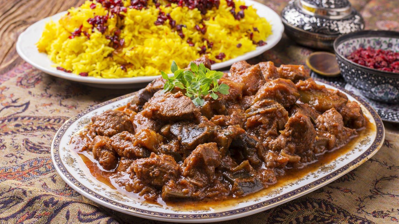 Lamm mit Safran-Reis nach persischer Art (Foto: Fotolia)