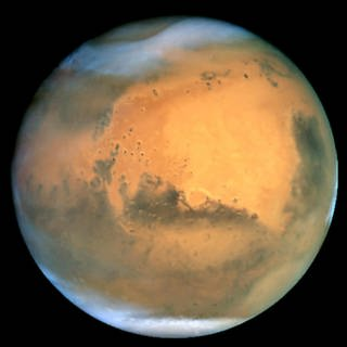 Satellitenaufnahme des Planeten Mars  (Foto: picture-alliance / Reportdienste, Picture Alliance)