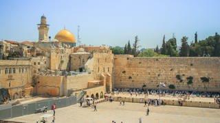 Klagemauer und Felsendom in Jerusalem (Foto: Colourbox)