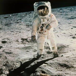 Edwin Aldrin auf dem Mond (Foto: picture-alliance / Reportdienste, dpa Bildfunk)