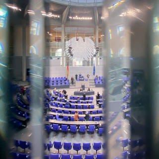 Der Blick in den Plenarsaal des Bundestags während der 219. Sitzung. (Foto: dpa Bildfunk, picture alliance/dpa | Kay Nietfeld)